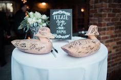 Macon, GA Wedding || KVC Photography. Wedding Guestbook, custom, duck decoys…