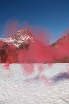 Photos of smoke bombs ignited in various location all over Europe, taken by Italian artist Filippo Minelli.