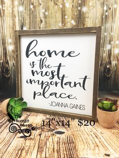 A personal favorite from my Etsy shop https://www.etsy.com/listing/533028111/home-is-the-most-important-place-framed