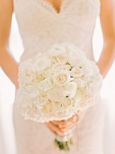 New Take on Neutral Bouquets - Style Me Pretty