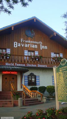 Bavarian Inn at Frankenmuth, Michigan!  If you like college dudes in lederhosen.......need I say more?