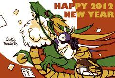 HAPPY NEW YEAR 2012    (C)toosato (Chihiro Ikeda)