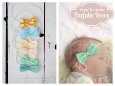 no sew fabric bows. So easy and they're so cute! #baby #bow #sewing #craft