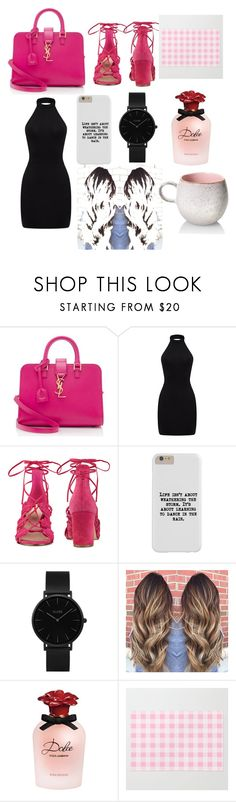 """""""Untitled #417"""" by ribeirocristiana ❤ liked on Polyvore featuring Yves Saint Laurent, Nine West, CLUSE and Dolce&Gabbana"""