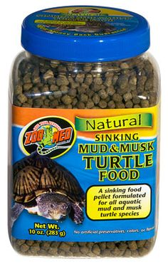 Zoo Med's NEW Natural Sinking Mud & Musk #Turtle Food!