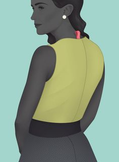 The graphic illustrations of Jack Hughes are refreshing and unique amidst many of the artists struggling to imitate fashion's greatest illustrators.  In his use of two tone color and realistic rendering, Hughes creates bold and elegant characters with a hint of nostalgia