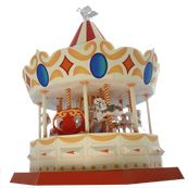 Paper pattern Carousel. Resize for dollhouse? Link to a wealth of printies!