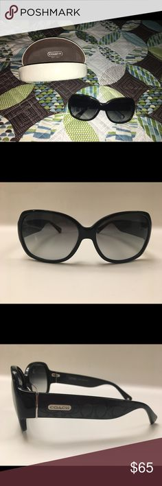 Coach Sunglasses Black Ombré tint sunglasses / New but no tags / No cracks on the lenses or any type of damage / NEVER WORN / the temples are a charcoal gray with a hint of shimmer Coach Accessories Sunglasses