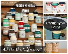 Chalk Paint vs Fusion Mineral Paint: When people first see it or hear of it, there is an assumption that Fusion is just another chalk-type furniture paint