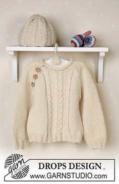 Ravelry: b13-7 Jumper, hat, ball and rattle pattern by DROPS design