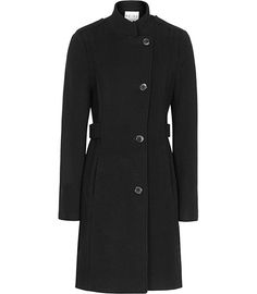 Womens Black Sharply Tailored Coat - Reiss Havana