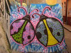 Ladybug Street Art | Cerro Concepcion, Valparaiso, Chile