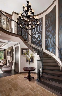 These days, a concrete staircase is really famous for a modern house. The design of staircase with its concrete material is simple and easy to make. It is another option for you who want to design you Grand Staircase, Staircase Design, Staircase Ideas, Luxury Staircase, Staircase Walls, Curved Staircase, Carpet Stairs, Villa Plan, Foyer Decorating