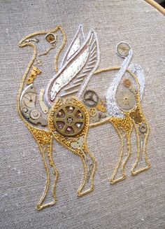 Another pinner said: goldwork steampunk Bayeux beast
