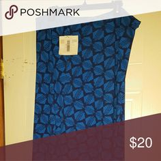 Maxi skirt Blue and black print LuLaRoe Skirts Maxi