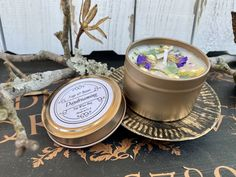 infused with essential oils herbs Daydreaming- Healing Ritual Meditation Energy crystals soy wax candle 6oz flowers