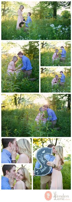 a surprise proposal in the sunset. engagement photography. www.londonlanestudio.com