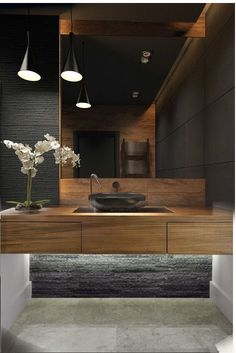 Modern Bathroom Have a nice week everyone! Today we bring you the topic: a modern bathroom. Do you know how to achieve the perfect bathroom decor? Bad Inspiration, Interior Design Inspiration, Bathroom Inspiration, Design Ideas, Interior Ideas, Contemporary Bathrooms, Contemporary Decor, Bathroom Modern, Small Bathroom