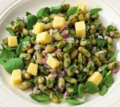flageolet bean and smoked cheese salad recipe