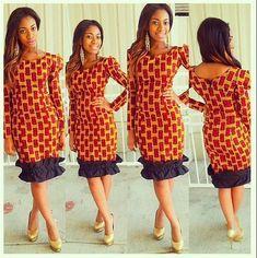 Ankara Gown Design for Ladies  http://www.dezangozone.com/2015/07/ankara-gown-design-for-ladies_25.html - Ankara Design ~African fashion, Ankara, kitenge, African women dresses, African prints, Braids, Nigerian wedding, Ghanaian fashion, African wedding ~DKK