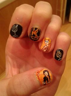 Hunger Games Painted Nails