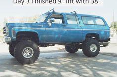 "1976 Chevrolet Suburban 1500 AFTER w/38"" 15.5 Super Swamper Tires & 9""…"