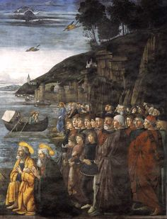 Domenico Ghirlandaio, Calling of the Apostles, 1481, fresco in the Cappella Sistina, Rome
