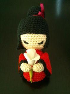 kokeshi amigurumi  algodón ganchillo