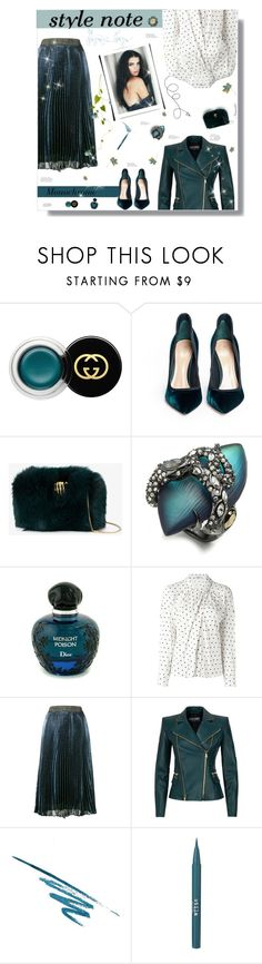 """""""My style note..."""" by nannerl27forever ❤ liked on Polyvore featuring Gucci, Gianvito Rossi, Benedetta Bruzziches, Alexis Bittar, Christian Dior, Cacharel, Christopher Kane, Balmain, SkinCare and Stila"""