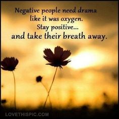 negative people need drama like oxygen quotes quote flowers sun people advice positivequotes lifequotes feeling lifelessons negative