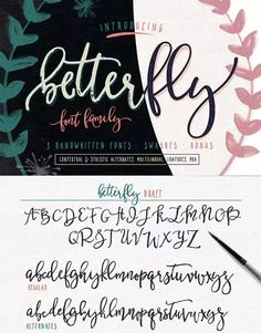 Betterfly Handwritten Script font family from Blessed Print is 1 of 20 professional fonts you can get for just $29!