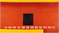Georgia O'Keeffe / Black Door with Red / 1954 / Oil on canvas