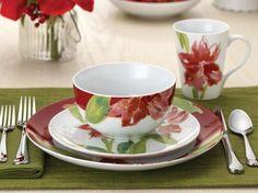 Paula Deen Amaryllis 16-pc. Dinnerware Set