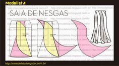 E´um tipo de saia evasê dividida em várias partes (panos). Podendo ser de 4, 6, 8 partes/nesgas.