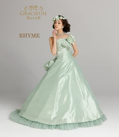RHYME green A5, Marie, Ball Gowns, Bridal, Formal Dresses, Board, Green, Color, Fashion