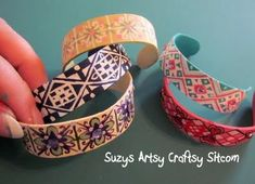 bracelets from popsicle sticks! http://dollarstorecrafts.com/2011/04/make-popsicle-stick-bracelets/