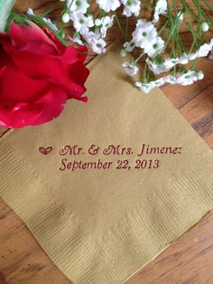 Personalized Napkins Personalized Napkins Wedding Personalized Cocktail Beverage Paper Anniversary Party Monogram Custom Luncheon Avail!