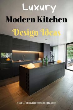 Modern Kitchen Designs Photo Gallery. One of the few home improvements that not only add value to your home as well as functionality in modern kitchen designs. Whether you are simply doing a minor upgrade or completely re-furbishing your kitchen the end result will be enjoyed and used every day. #modernkitchendesign #modernkitchendesignideas #modernkitchendesignluxury #modernkitchendesignsmall Kitchen Cabinets Pictures, Modern Kitchen Cabinets, Luxury Kitchen Design, Luxury Kitchens, Modern Architecture Design, Modern House Design, Interior Design Inspiration, Home Interior Design, Kitchen Ideas 2018