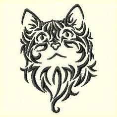 Cat Machine Embroidery Design by ThreadTreasuresEmbro on Etsy