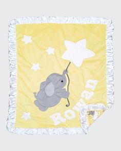 Elephant and Star Baby Blanket w/ Contrast Trim Star Baby Blanket, Babies Rooms, Rowan, Baby Room, Contrast, Elephant, Kids Rugs, Home Decor, Decoration Home