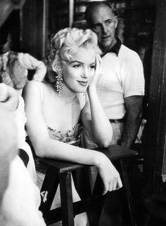 """ Marilyn on the set of There's No Business Like Show Business  """