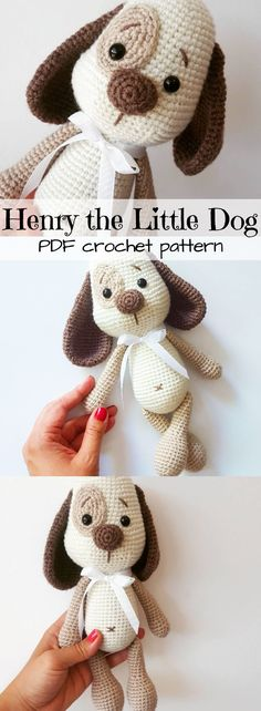 Love this!!! Adorable puppy crochet pattern! This little dog toy is so cute! I can't wait to make him! #etsy #ad #amigurumi #pdf #download