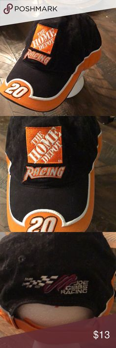 b08cb8f622221 Home Depot Nascar Racing #20 Dad Hat Good condition some minor sign of ware  great