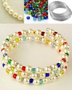 Colorful beads bracelet. Craft ideas from LC.Pandahall.com