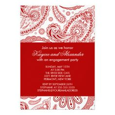 >>>Smart Deals for          	Modern Red Paisley Engagement Party Invitations           	Modern Red Paisley Engagement Party Invitations This site is will advise you where to buyHow to          	Modern Red Paisley Engagement Party Invitations Here a great deal...Cleck See More >>> http://www.zazzle.com/modern_red_paisley_engagement_party_invitations-161356883640123936?rf=238627982471231924&zbar=1&tc=terrest