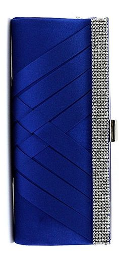 Sapphire and silver clutch