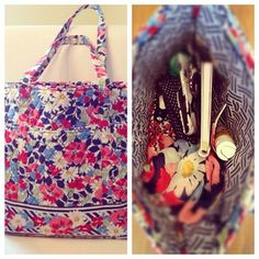 The Vera Bradley Go Round Tote holds all of your essentials (and more!)