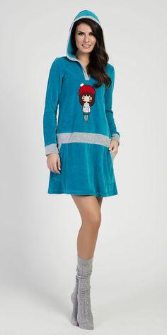 Homewear Dress 80% Cotton 20% Polyester 5374   Loungewear  Vamp! Homewear Dress 80% Cotton 20% Polyester 5374 Loungewear, Cozy, Sweaters, Cotton, Collection, Dresses, Fashion, Vestidos, Moda