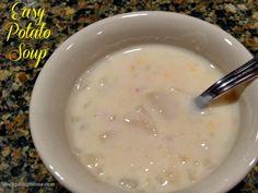 Easy Potato Soup - 5 ingredients!  http://www.stockpilingmoms.com/2012/12/easy-potato-soup/
