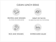 Clean Lunch Templates from Dr. Clean Eating, Clean Diet, Healthy Eating, Healthy Food, 21 Day Cleanse, Clean Cleanse, Clean Program, Clean Lunches, Beauty Detox